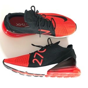 Nike Air Max 270 Flyknit Red Sneakers